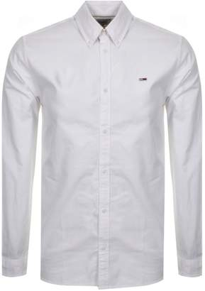 Tommy Jeans Long Sleeved Twill Tape Shirt White