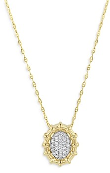 Bloomingdale's Diamond Cluster Pendant Necklace in 14K Yellow Gold, 0.25 ct. t.w. - 100% Exclusive