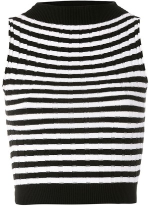 Eva Striped High Neck Tank Top