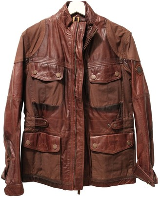 Timberland Brown Leather Jacket for Women