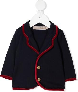 La Stupenderia Velvet Trim Blazer Jacket