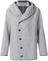 Emporio Armani Caban coat - men - Cotton/Polyamide/Wool - 46