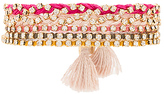 Ettika Beaded Layered Bracelet in Pink.