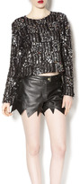 Endless Rose Black Sequin Sweater