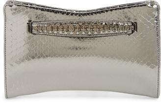 Jimmy Choo Genuine Python Clutch with Crystal Bracelet
