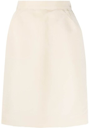 Chanel Pre Owned 1990s High-Waisted Straight Skirt