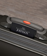 Personalized Planet Men's Luggage Tags - Black & White 'Mr.' Personalized Luggage Handle Wrap