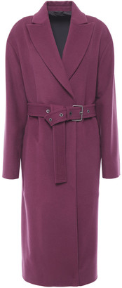 Brunello Cucinelli Belted Wool And Cashmere-blend Felt Coat