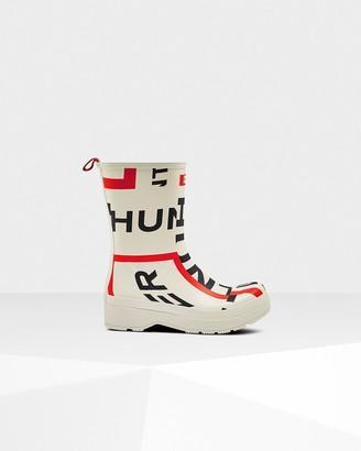 Hunter Men's Original Play Mid-Height Exploded Logo Rain Boots