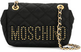 Moschino mini quilted logo crossbody bag