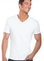 Jockey Mens Slim Fit Cotton Stretch V-neck - 2 Pack