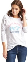 Gap Alpine graphic long sleeve slub tee