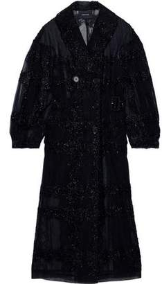 Simone Rocha Tinsel-trimmed Tulle Trench Coat