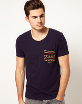Voi Jeans T-Shirt with Aztec Detail