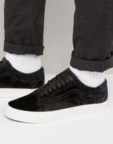 Vans Old Skool Premium Suede Pack In Black Va38g1jpx