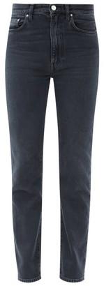 Totême High-rise Straight-leg Jeans - Black