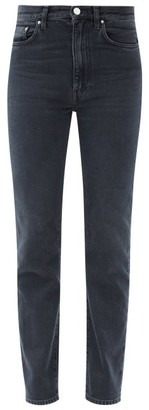 Totême Mid-rise Cropped Straight-leg Jeans - Black