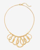 White House Black Market Textured Teardrop Short Necklace