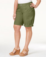 INC International Concepts Plus Size Poplin Shorts, Only at Macy's