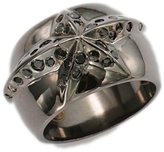 Thierry Mugler Stainless Steel Ring - 7.25