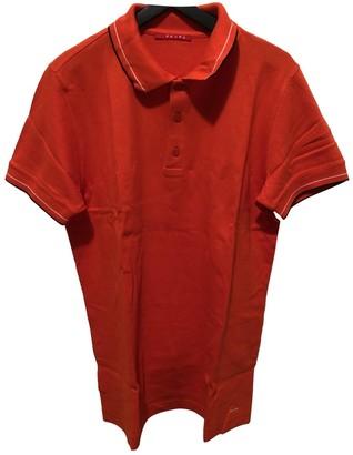 Prada Orange Cotton Polo shirts