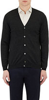 Zanone MEN'S V-NECK CARDIGAN-DARK GREY SIZE L