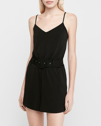 Express Belted Utility Romper