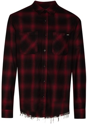 Amiri Core Shadow plaid-pattern shirt