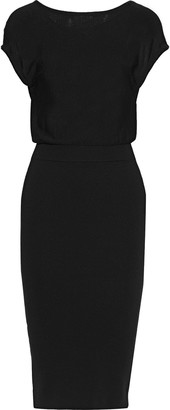 Alice + Olivia Shara Twist-back Cutout Wool-blend Dress