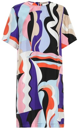 Emilio Pucci Printed silk-twill minidress