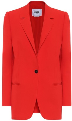 MSGM Stretch-cady blazer