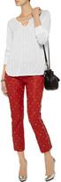 LnA Clover open-knit cotton-blend sweater