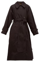 Marc Jacobs Belted Cotton-gabardine Trench Coat - Womens - Black