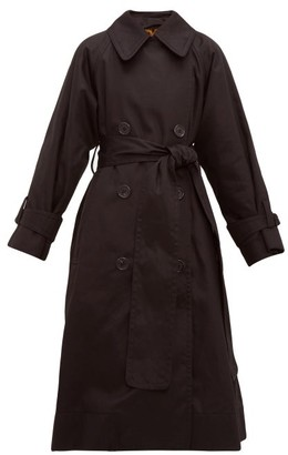 Marc Jacobs Runway - Belted Cotton-gabardine Trench Coat - Womens - Black