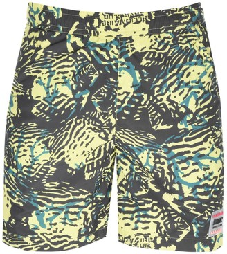 Billionaire Boys Club Camo Swim Shorts Yellow