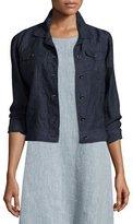 Eileen Fisher Organic Linen Jean Jacket, Denim, Plus Size