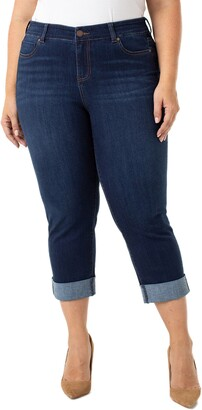 Liverpool Charlie Wide Roll Cuff Crop Jeans