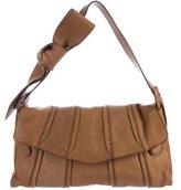 Valentino Leather Paneled Flap Bag