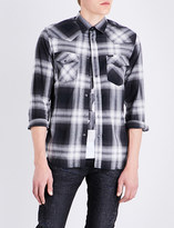 Diesel S-east regular-fit checked cotton shirt