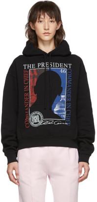 Vetements Black President Print Hoodie