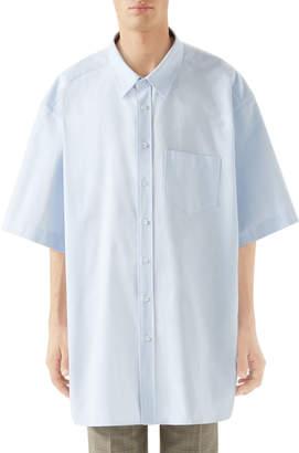 Gucci Men's Oversized Short-Sleeve Oxford Shirt