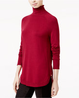 Kensie Zip-Detail Turtleneck Sweater