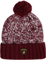 Yours Clothing SANTA MONICA Burgundy Knitted Bobble Hat