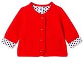 Petit Bateau Baby girls padded tube knit cardigan