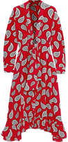 Dodo Bar Or Lennon Paisley-print Silk-crepe Dress