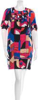 See by Chloe Abstract Print Silk Dress