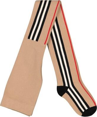 BURBERRY KIDS Icon Stripe cotton-blend tights