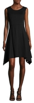 Magaschoni Crewneck Ponte Flared Dress