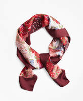Brooks Brothers Silk Twill India Garden Scarf