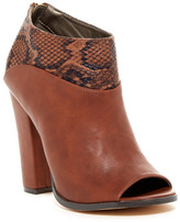 Michael Antonio John-Rep Open Toe Snake Embossed Bootie